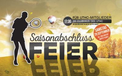 Saisonabschlussfeier für UTHC-Mitglieder am 29.09.2018