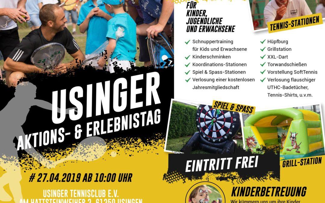 Einladung zum Tag der offenen Tür beim Usinger Tennisclub UTHC!