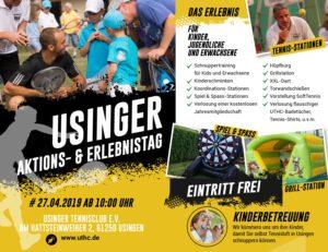 UTHC-Tennis: Aktionstag und Erlebnistag 2019 - Das Programm