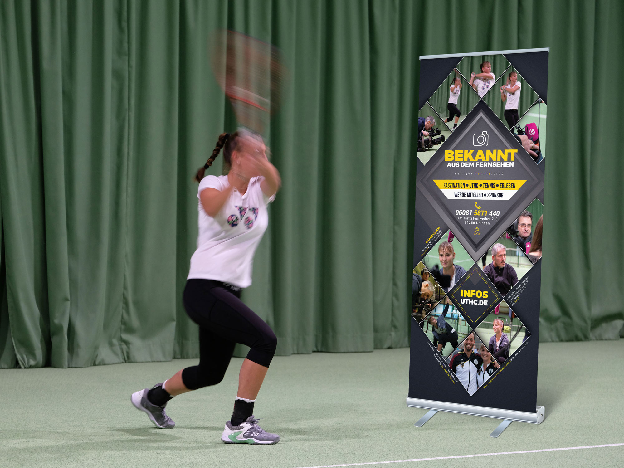 Tennis Sponsoren Paket 4 - Mobile Roll-Ups