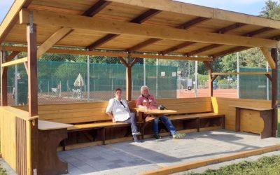 Neue Überdachung oberhalb der Center-Court Tennisplätze eröffnet
