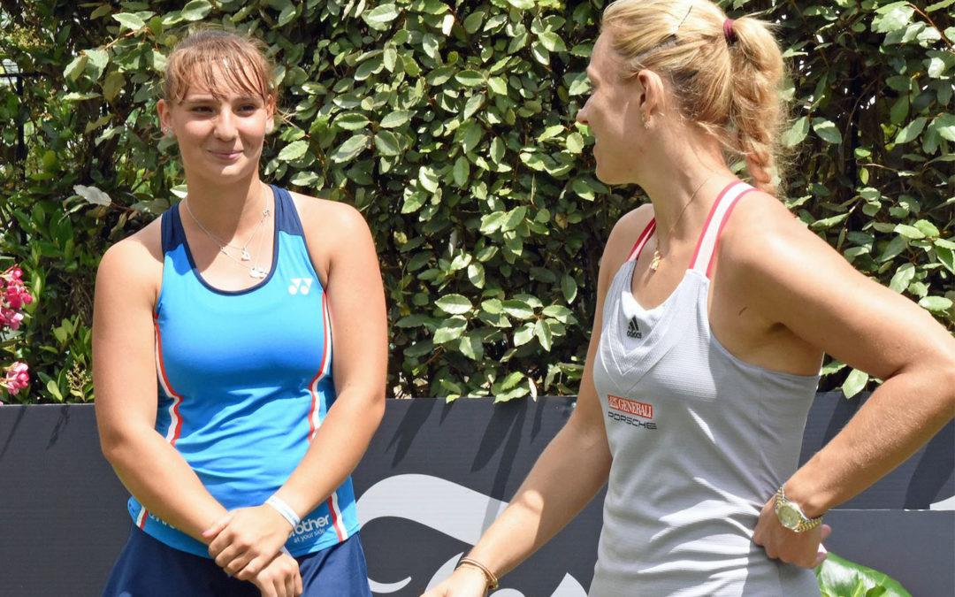 Angelique Kerber und Mara Guth im Doppel-Pack