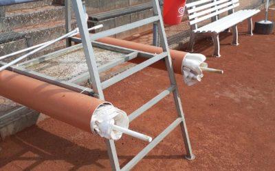 Neue Röhren für Sonnenschirme und Platzbewässerung